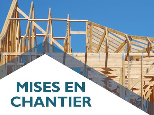 La tendance des mises en chantier d'habitations est à la baisse en février